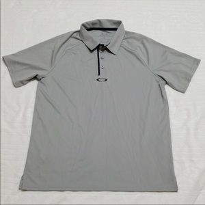 Oakley Collared Grey Shirt Size Small